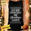Official Just Here For My Socks And Christmas Dinner Tank Top