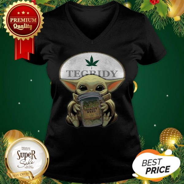 Baby Yoda Hug Tegridy Weed South Park V-neck