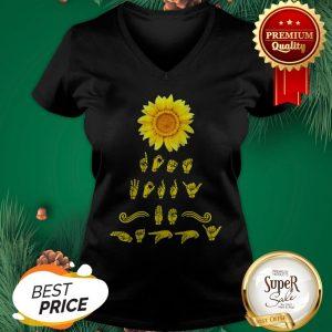 Official Sunflower Sign Language V-neck