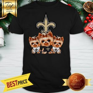 Yorkshire Terrier New Orleans Saints Shirt