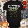 Nice Baby Yoda Play Led Zeppelin Guitar Star Wars Shirt