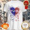 Nice Love New England Patriots Boston Red Sox Logo Tiny Hearts Shape Shirt