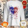 Nice Love New England Patriots Boston Red Sox Logo Tiny Hearts Shape Sweatshirt