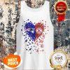 Nice Love New England Patriots Boston Red Sox Logo Tiny Hearts Shape Tank Top