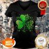 Nice Sugar Skull Lucky Shamrock Happy St Patrick's Day Gifts V-neck