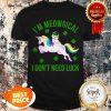 Nice I'm Meowgical St Patrick's Day Leprechaun Cat Unicorn T-shirt