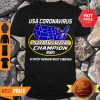 Awesome Map USA Coronavirus Survivor Champion 2020 Almost Heaven West Virginia Shirt