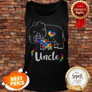 Nice Autism Awareness Support Uncle Elephant Gift Tank Top