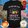 Nice Camping Flamingos You Don't Have To Be Crazy Train You Shirt