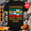 Nice I Survived Toilet Paper Apocalypse 2020 Vintage Shirt
