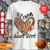 Nice Teaching Is Heart Work Leopard Flower Shirt