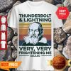 Vintage Thunderbolt Lightning Very Very Frightening Me Galileo Vintage Shirt