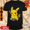 Cute Pikachu Playing Game Pew Pew Pika Pika Shirt