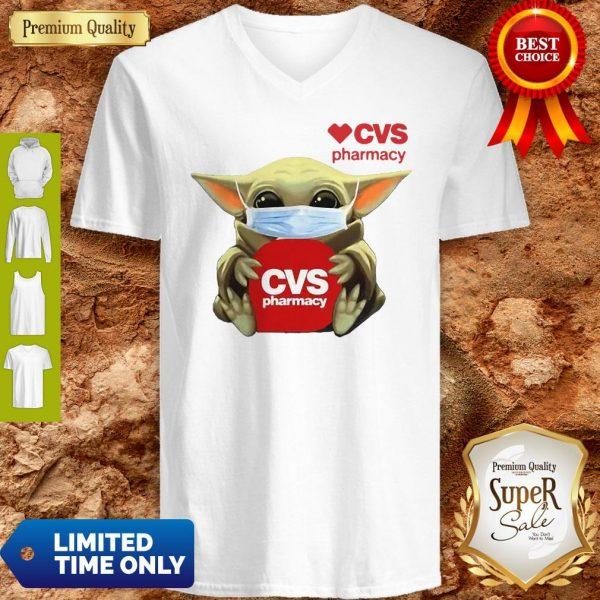 Good Baby Yoda Cvs Pharmacy Coronavirus V-neck