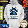 Top Dog Paw Dolphins Easily Distracted By Dolphins And Dogs Hoodie
