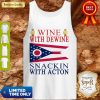 Ohio State Flag Wine With Dewine Snackin With Acton Tank Top