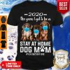 Official 2020 The Year I Got To Be A Stay At Home Dachshund Dog Mom Quarantine Shirt