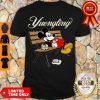 Awesome Mickey Mouse Drinking Yuengling Beer On Park Bench Shirt