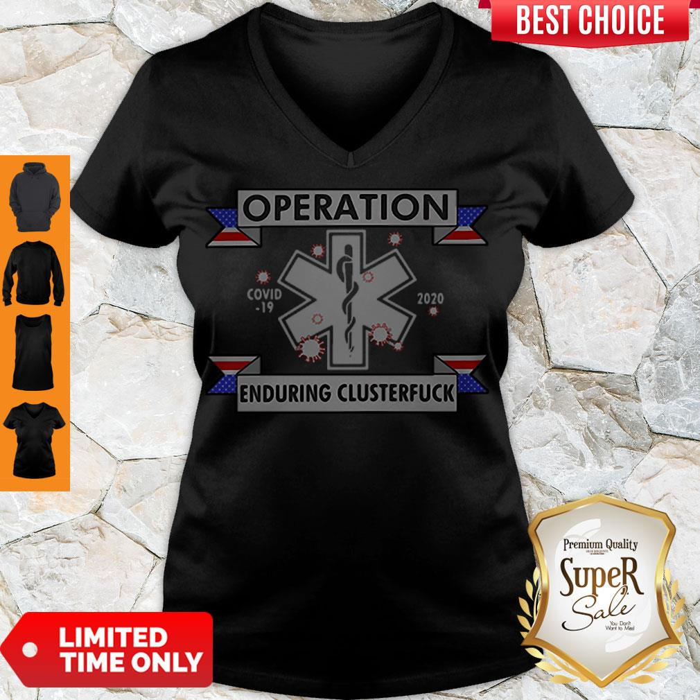 Awesome Star of Life Operation COVID-19 2020 Enduring Clusterfuck V-neck