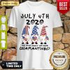 Good July 4th 2020 Mask Gnomes Independence Day The One Where They Were Quarantined Shirt