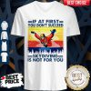 If At First You Don't Succeed Skydiving Is Not For You Vintage Version V-neck