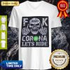 Nice Skull 2020 Fuck Coronavirus Let_S Ride V-neck