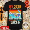 Nice My 40th Birthday The One Where I Was Quarantined 2020 Face Mask Shirt