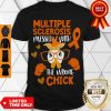 Pretty MS Awareness Wrong Chick Fighter Support Multiple Sclerosis Shirt