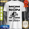Vintage Mom And Son The Legend And The Legacy Shirt