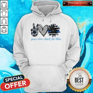 Official Peace Love Back The Blue Hoodie