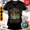 Strong Woman I Work At Us Foods Do You Think A Sane Person Would Do This Job Vintage V-neck