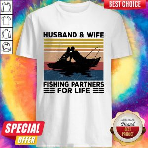 Husband And Wife Fishing Partners For Life Vintage Shirt