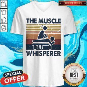 The Muscle Whisperer Vintage V-neck