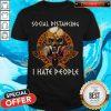 Skull Vikings Social Distancing I Hate People ShirtSkull Vikings Social Distancing I Hate People Shirt