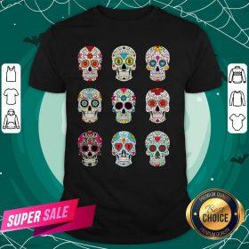 Mexican Sugar Skulls Dia De Muertos Day Of The Dead Shirt