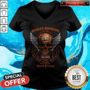 Skull Motor Harley Davidson Five Finger Death Duncalf V-neck