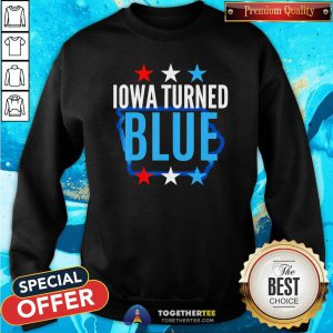 Cute Michigan Turned Blue Democrats Won The Election For Biden Stars Sweatshirt - Design By Togethertee.com