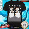 Cute Snowman Nose Thief Ugly Christmas Shirt - Design By Togethertee.com