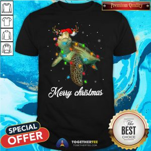 Cute Turtle Light Merry Christmas Shirt - Design By Togethertee.com