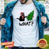 Funny Black Cat What Merry Christmas Tree Shirt - Design By Togethertee.com
