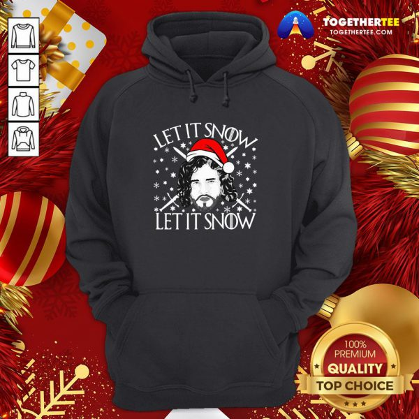 Funny Merry Christmas Jon Let It Snow Let It Snow Sweat Hoodie - Design By Togethertee.com
