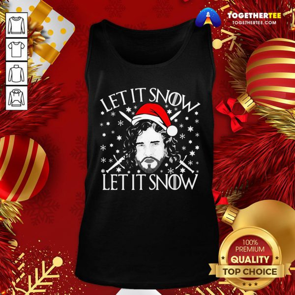 Funny Merry Christmas Jon Let It Snow Let It Snow Sweat Tank Top - Design By Togethertee.com