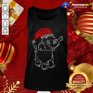 Great Elephant Santa Light Christmas Tank Top - Design By Togethertee.com