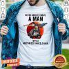 Nice Never Underestimate A Man With A Motorized Wheelchair Shirt - Design By Togethertee.com