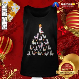 Official Alpaca Christmas Tree Tank Top - Design By Togethertee.com