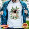 Official Pug White Flower Shirt - Design By Togethertee.com