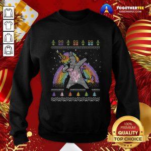 Pretty Unicorn Dabbing Ugly Merry Christmas Sweatshirt - Design By Togethertee.com