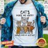 Cats Make Me Happy Humans Make My Head Hurt Shirt - Design By Togethertee.com