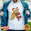 Pooh And Tiger Hat Santa Happy Merry Christmas Shirt - Design By Togethertee.com
