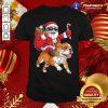 Santa Claus Riding Bulldog Merry Christmas Shirt - Design By Togethertee.com